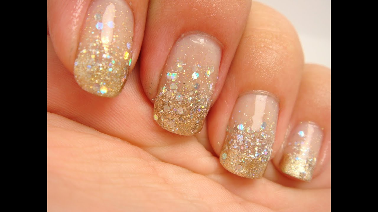 gold glitter gradient prom nails cyexquisite youtube. Black Bedroom Furniture Sets. Home Design Ideas