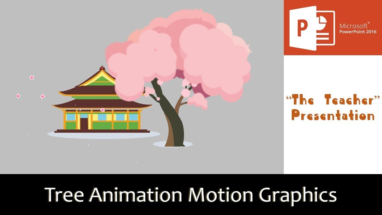 Cherry Blossom Tree Animation   Motion Graphics in PowerPoint 2016 Tutorial