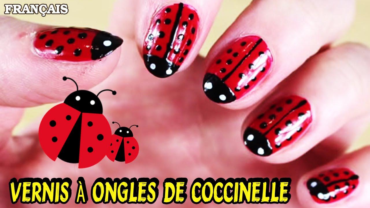 Bien connu Facile DIY Français: Vernis à Ongles de Coccinelle | Ladybug Nail  GU35