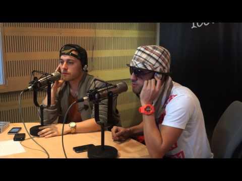 Magnate y Valentino cantan Punto y Coma en vivo en la cabina de Oxígeno