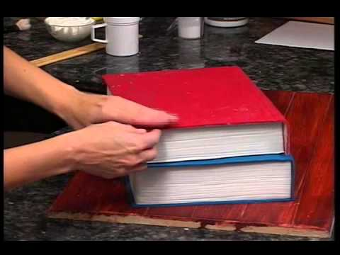 How To Make A Pile Of Books Cake