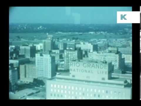 1960s Dallas Texas, Aerials, Cotton Bowl, Rare Home Movie Footage
