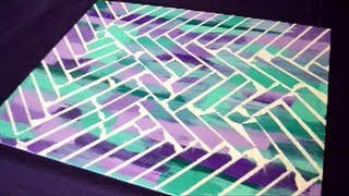 Diy Painter's Tape Canvas Art