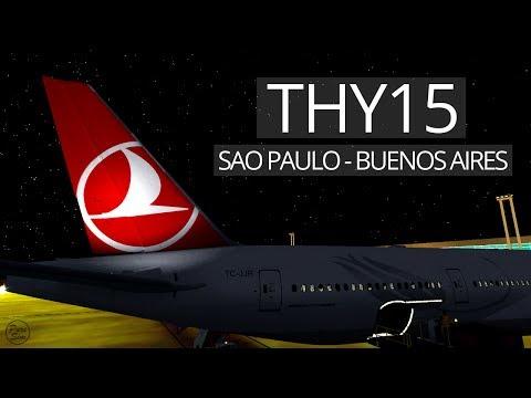 THY15 [2/2] | São Paulo-Buenos Aires | B77W | IVAO | feat. Arian [GERMAN/DEUTSCH]