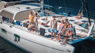 LIVING WITH A FAMILY OF 5 ON A SAILBOAT (full tour)