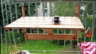 Откидной столик - Folding table(Как сделать складной, откидной и навесной стол на балконе. Откидной столик своими руками., 2015-09-11T07:57:07.000Z)