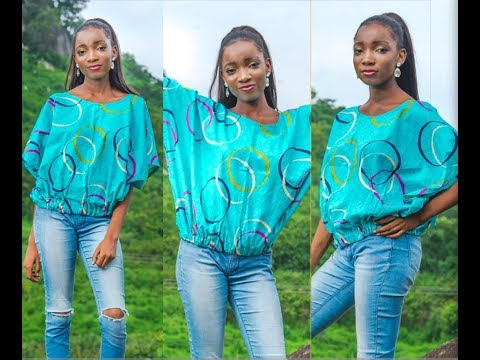 Simple Ankara Top in minutes (mini agbada)