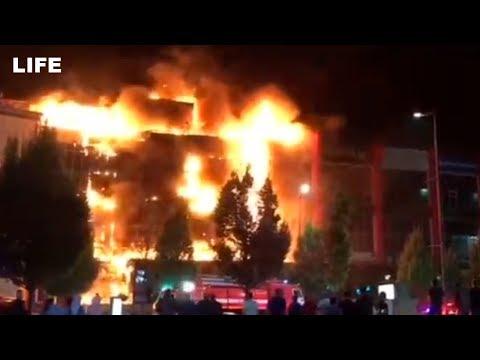 Пожар в ТЦ «Гранд парк» в Грозном