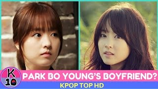 who is park bo young s boyfriend lovelife about park bo young