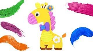 Как Сделать Жирафа. Поделки Для Детей. Учим Цвета. Развивающее Видео для Детей