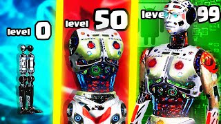 Idle Human - IS THIS THE STRONGEST CYBORG HUMAN EVOLUTION? (9999+ ROBOT UPGRADE LEVEL)