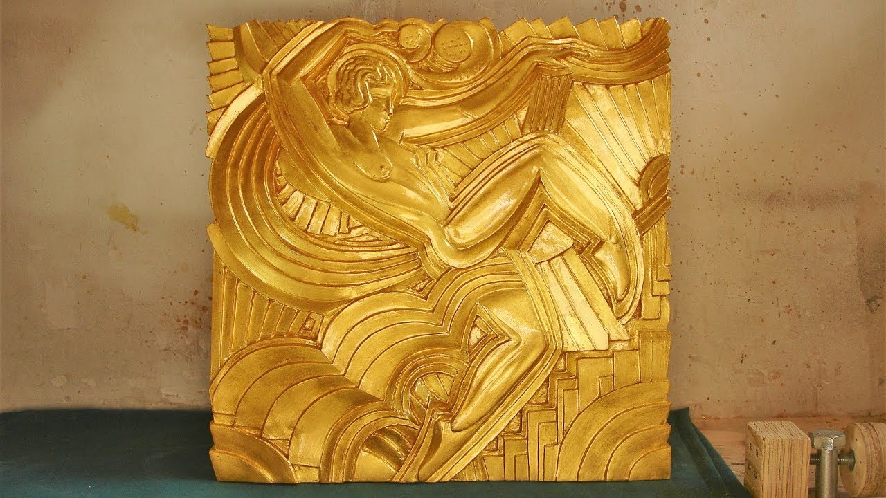 Wood carving folies bergère bas relief timelapse youtube