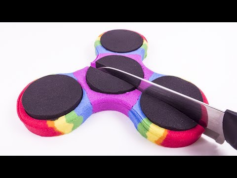 Diy How To Make Kinetic Sand Rainbow Fidget Spinner Satisfying Baby Learn Colors For Kid