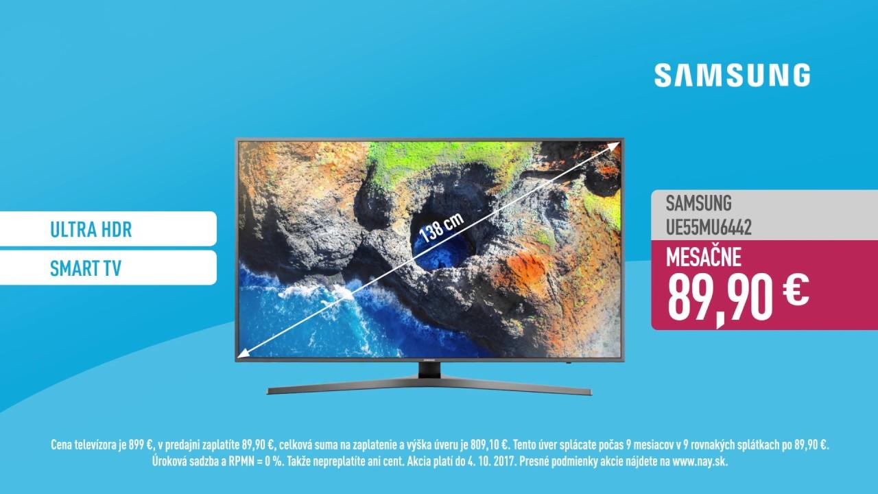 4e6dc34b7 0% úrok na 9 mesiacov pri nákupe na splátky + TV Samsung UE55MU6442 už od  89,90 € mesačne