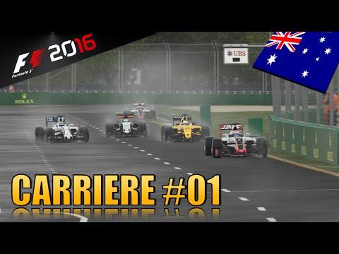 Une première sous la pluie  - Carrière F1 2016 #01 (PS4)