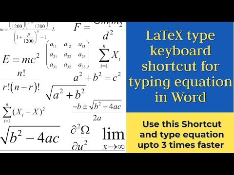 Keyboard Shortcut For Equation In Word Similar To LaTeX