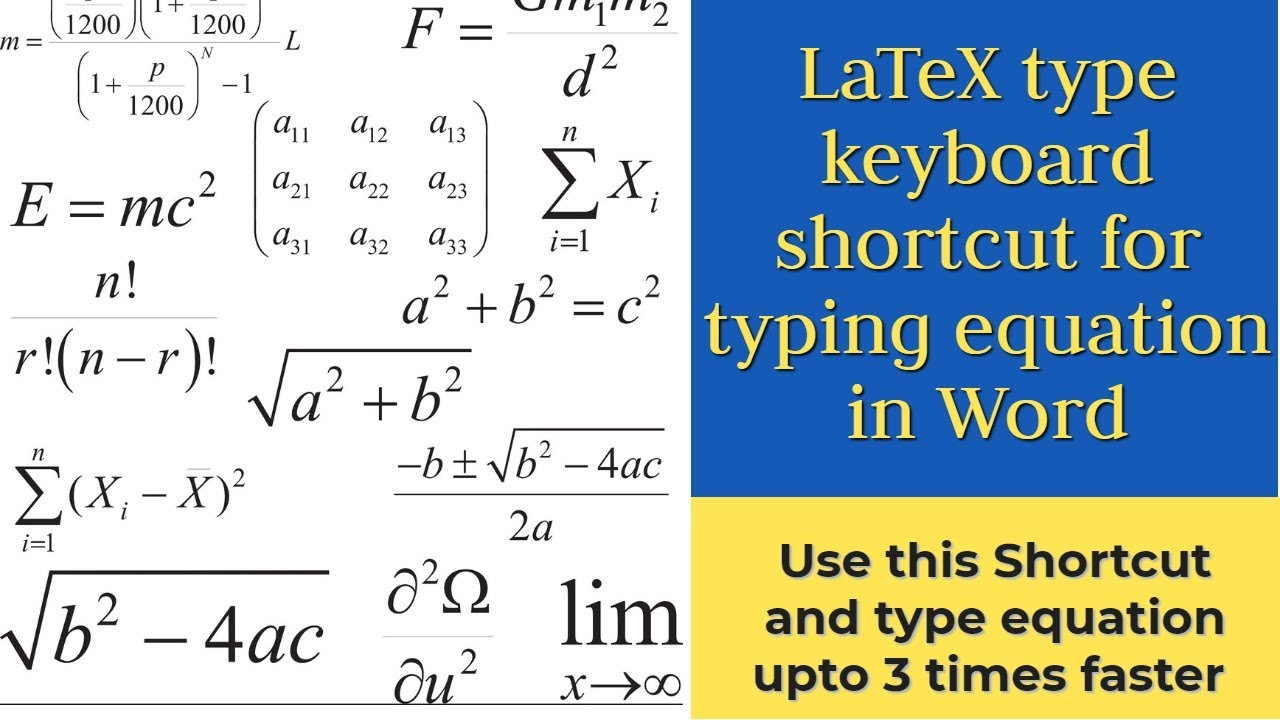 Latest keyboard shortcut for equation in Word similar to LaTeX