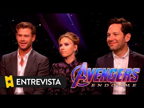 VENGADORES ENDGAME   Entrevista a Chris Hemsworth, Scarlett Johansson y Paul Rudd