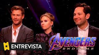 VENGADORES ENDGAME   Entrevista a Chris Hemsworth, Scarlett Johansson y