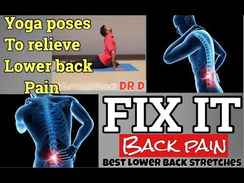 yoga for back pain  10 min stretches for lower back