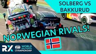 Norwegian Rivalry! | Solberg v Bakkerud | World Rallycross Battles