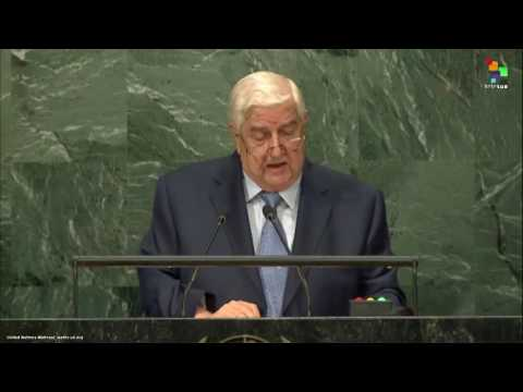 UN Speeches: Syrian Deputy Prime Minister Walid Al-Moualem