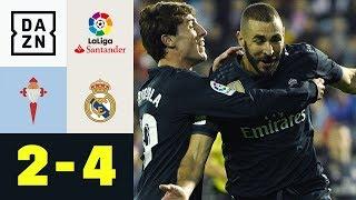 Bärenstarker Karim Benzema bei Spektakel: Celta Vigo - Real Madrid 2:4 | LaLiga | DAZN Highlights