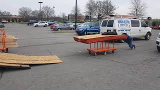 How to load a trailer at home depot