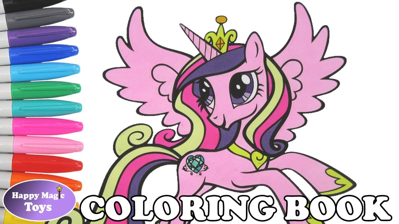 Mlp Princess Cadance Coloring Book Pages My Little Pony Princess