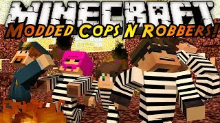 Minecraft Mini-Game : MODDED COPS N ROBBERS! PANDORA