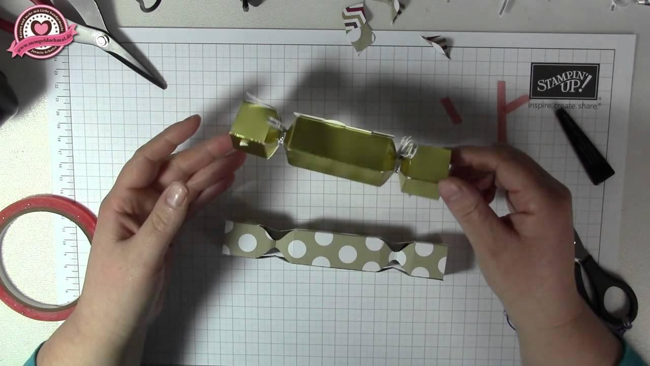 tutorial knallbonbons verpackung basteln mit dem envelope punch board von stampin 39 up youtube