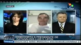 EEUU: CNN  corta  a especialista por ofrecer datos a favor de Nicolás Maduro