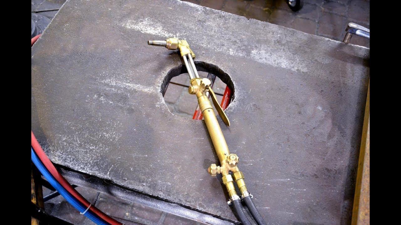 Газовый Резак Резка 4 см. - YouTube