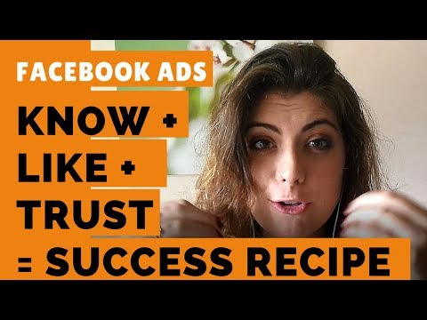 "Use the Facebook Ad Triad ""KNOW-LIKE-TRUST"" to get an EDGE over your competition"