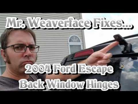 The DIY How to Fix 2004 Ford Escape Rear Window Hinge: Repair & Replacement (Back Hinges Corroded)