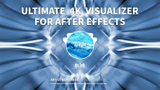 Audio Spectrum Visualizer Template #9 | After Effects | Reactive Music | Music Waveform | 4K | FREE