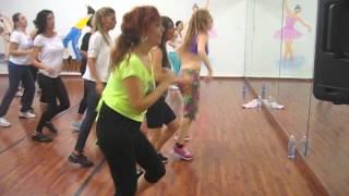 all around the world paulina rubio zumba fitness class with ilanit perets