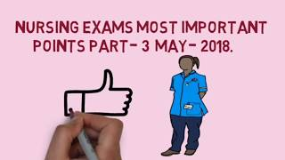 AIIMS  AND NCLEX-RN NURSING exams  important points part -4by NURSES EXAM s