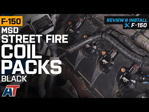 2011-2016-f150-5.0l-msd-street-fire-coil-packs---black-review-&-install