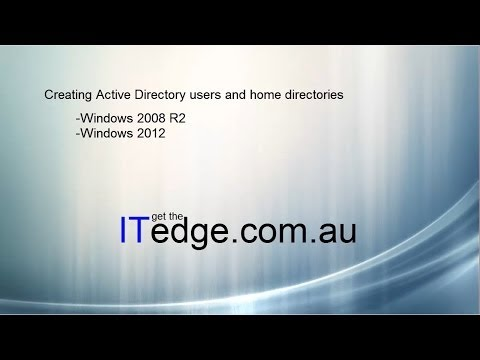 Creating Active Directory users and home directories ( GUI and Powershell )