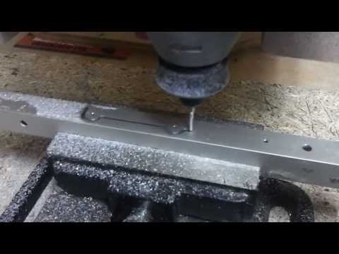 DIY wooden cnc cutting aluminium parts for brushless gimbal on Alexmos