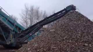Щебень. Производство вторичного щебня.(Производство бетонного щебня на на территории ООО