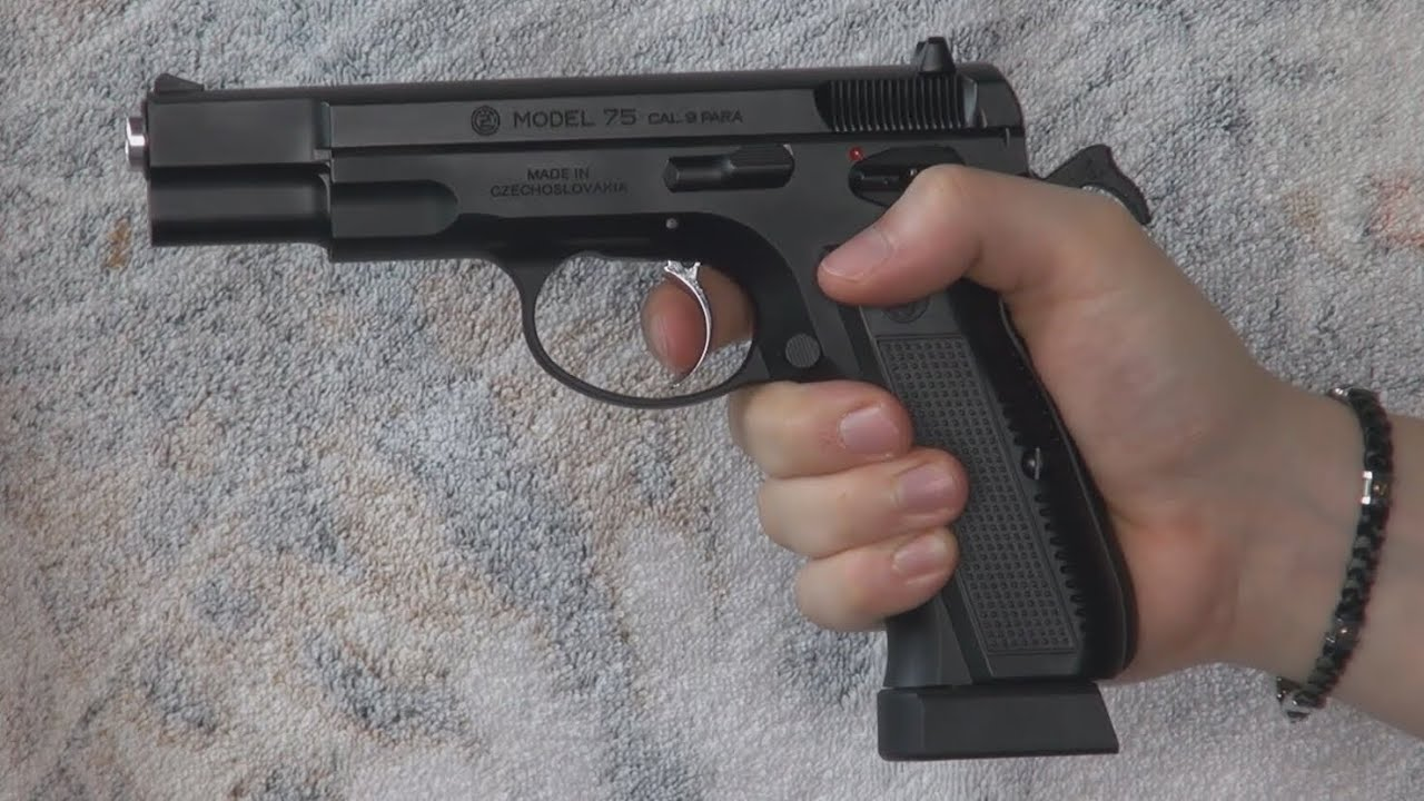 airsoft) cz75 kjw (kp 09) (with markings ; co2 and gas magazine(airsoft) cz75 kjw (kp 09) (with markings ; co2 and gas magazine) khanseb