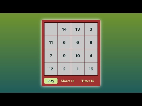 HTML CSS JS - Speed Code - Puzzle Game