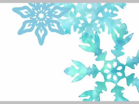 水彩な雪の結晶イラスト , No 925878/無料イラストなら