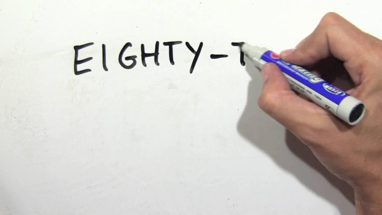 C mo se escribe 82 en ingl s n mero ochenta y dos en ingl s youtube - Habitacion en ingles como se escribe ...