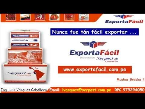 EXPORTA FACIL- COMO REGISTRAR SU DECLARACION EXPORTA FACIL
