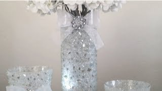 BLING AND CRUSHED GLASS DECOR DIY ( 2X UPLOAD)