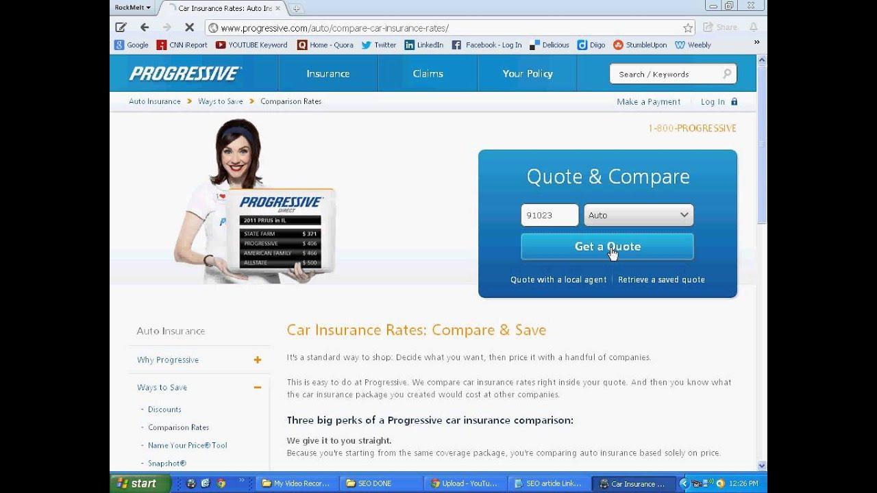 Progressive Car Insurance Quote Mobile Apps To Compare Auto Insurance Quotes  Youtube