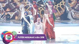 reza lesti mengiringi perkenalan finalis puteri muslimah asia 2018